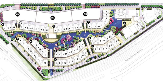 site plan-retail office